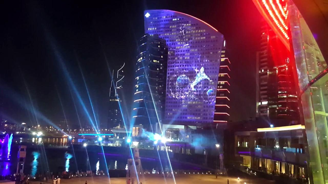 Amazing Dubai Festival City Fire Light Sound Show