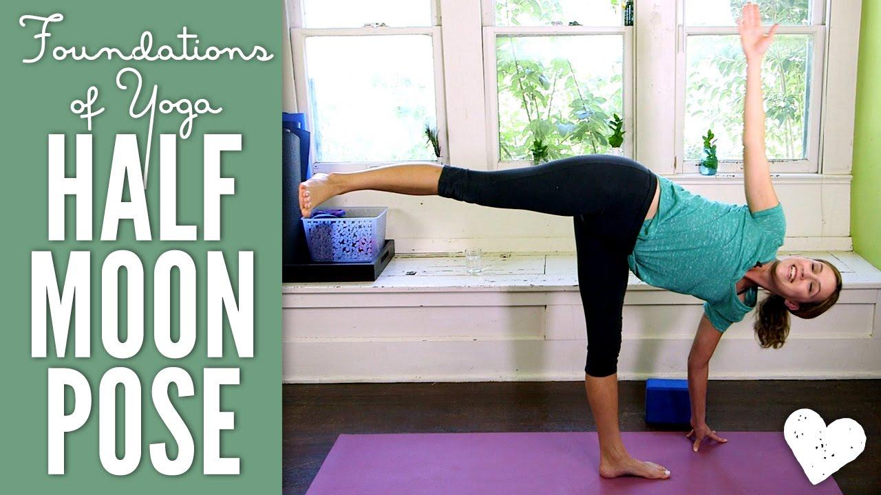 Half Moon Pose - Foundations of Yoga - YouTube