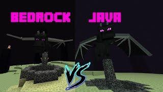 Minecraft Java VS Bedrock EP2 - Dragon - Donde es más difícil?