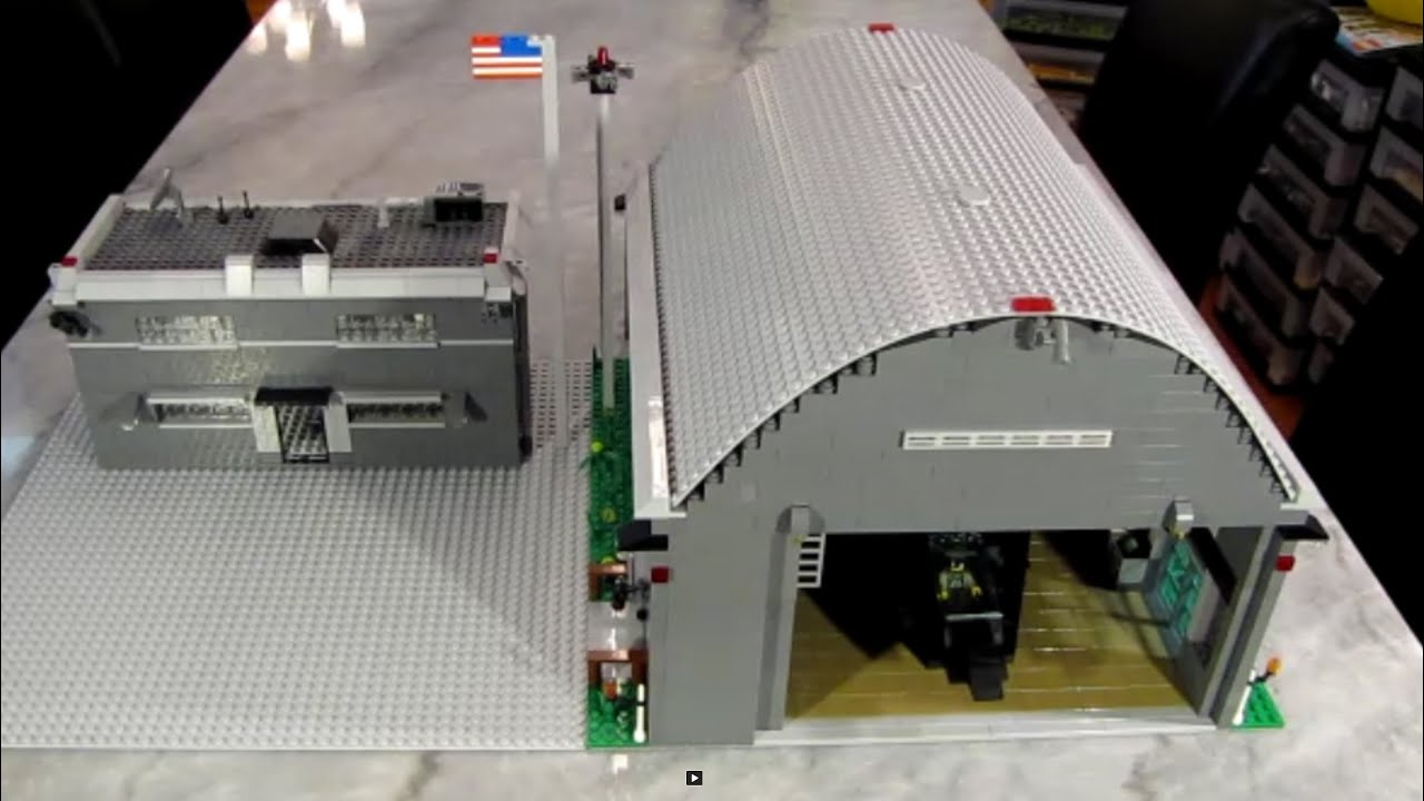 Custom Lego Military Base Hangar and Barracks - YouTube