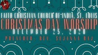 FCCIndia Christmas Day Live Worship | 12/25/2020 | FCCI St. Louis