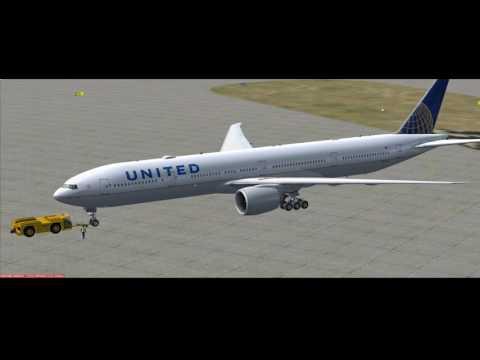 fsx se pmdg 777 300er united airlines n2331u kiah kord. Black Bedroom Furniture Sets. Home Design Ideas
