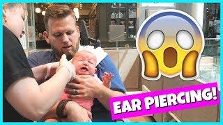 BABY GEMMA GETS HER EARS PIERCED!