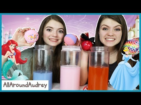 Surprise Princess Bath Bomb Challenge / AllAroundAudrey