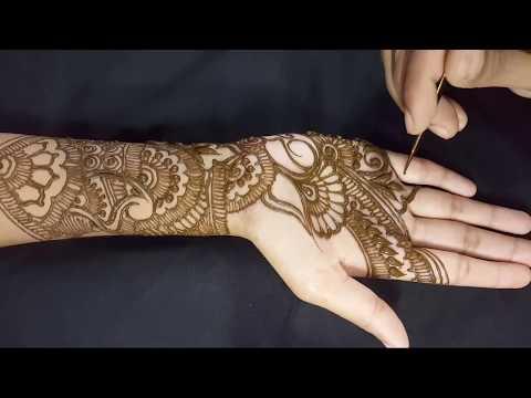 Traditional full hand Bridal henna design ★ Mehndi design Step by Step tutorial 5
