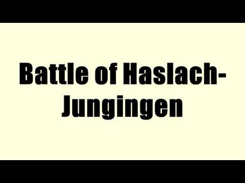 Battle of Haslach-Jungingen