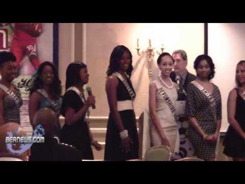 Miss Bermuda Contestants At ISL Draft Pick Betmuda April 30 2011