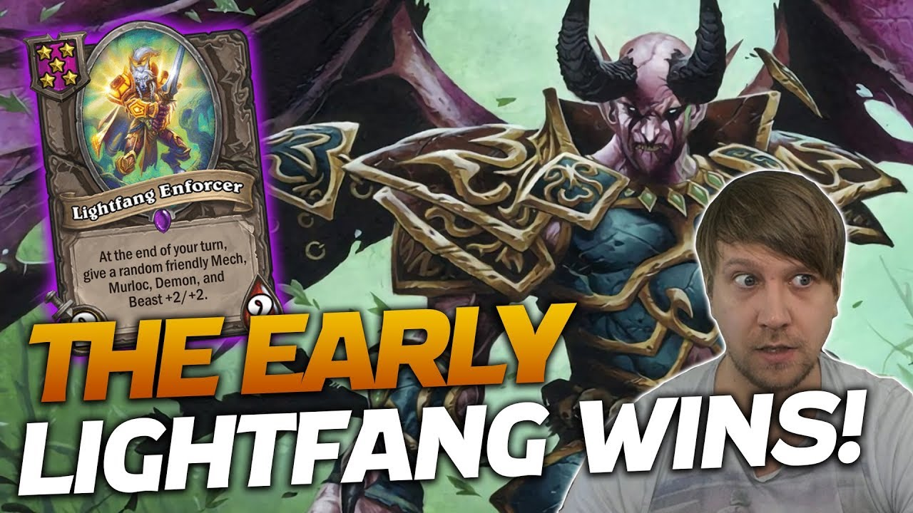HARD CARRIED by Lightfang Enforcer! Blessed by RNG!  | Hearthstone Battlegrounds | Savjz