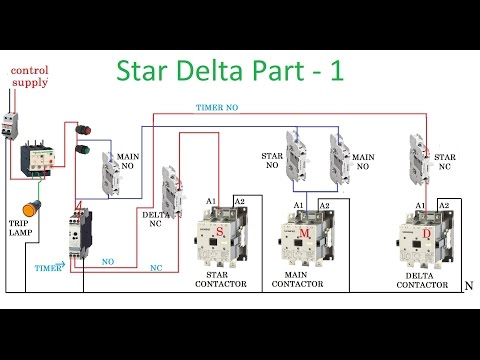 star delta starter - motor control with circuit diagram in hindi