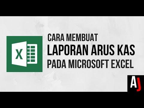 Cara Mudah Membuat Laporan Arus Kas Sederhana Dengan Microsoft Excel Youtube