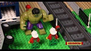 Lego Train Building Competition with Hulk | Stop motion | Brick film | Lego builder | Legobricks