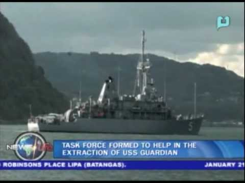 Task force formed to help in the extraction of USS Guardian