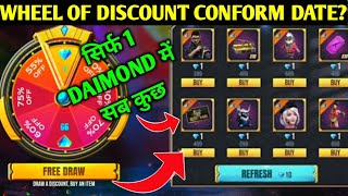 FREE FIRE WHEEL OF DISCOUNT EVENT CONFROM DATE ? | FREE FIRE ELITE PASS DISCOUNT EVENT DETAILS