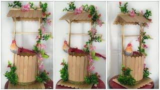 DIY Popsicle sticks craft idea. |||well show piece.