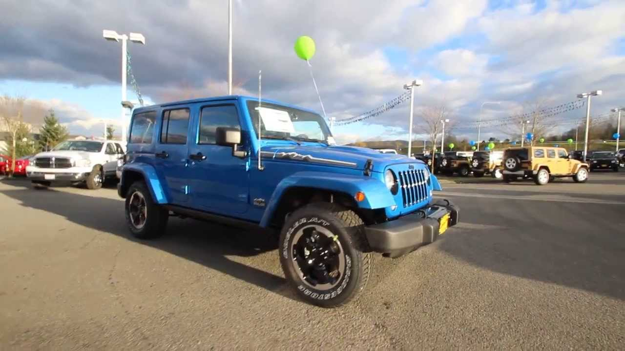 Leather Seats For Jeep Wrangler 2014 Jeep Wrangler Unlimited Polar Edition | Hydro Blue ...