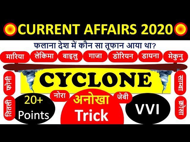 🔴 Tufan gk Tricks | Cyclone 2019 Gk | Current affairs 2019 2020 | Gk Trick in hindi