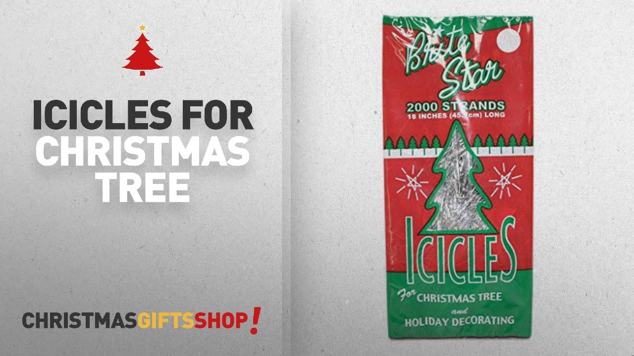 Most Popular Icicles For Christmas Tree: BRITE STAR Silver 18-Inch ...