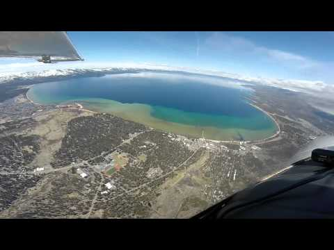 Flight to Lake Tahoe in a Cessna 210 turbo