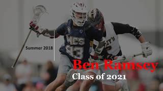 Ben Ramsey (Notre Dame '25) Summer Lacrosse Highlights 2018