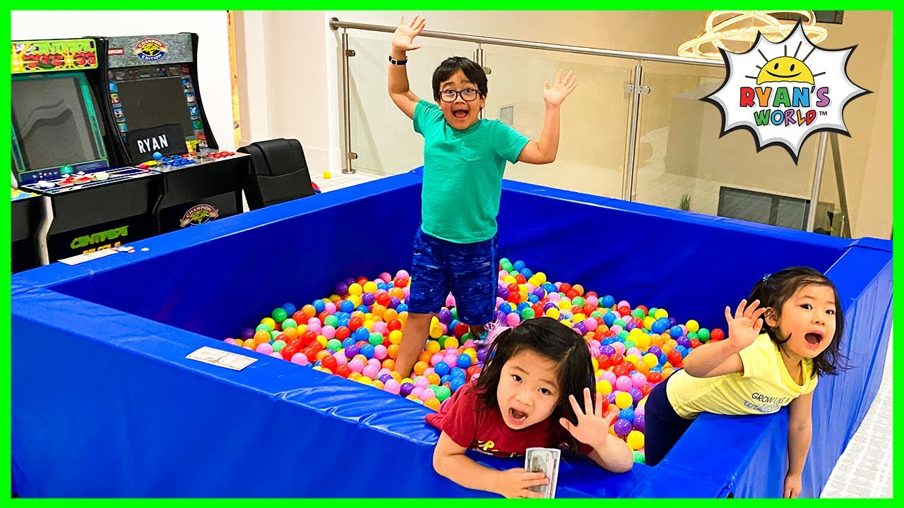Last to Leave the Ball Pit Wins Challenge!!!