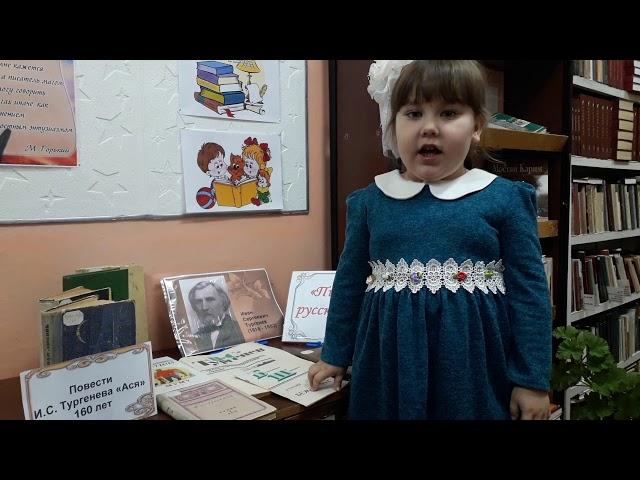 Изображение предпросмотра прочтения – ВиталинаДенисенко читает произведение «Я долго стоял неподвижно...» И.С.Тургенева