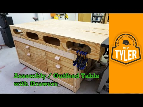 Outfeed / Assembly Workbench with Drawers