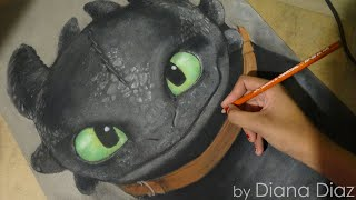 Speed Drawing: Toothless /Chimuelo (How To Train Your Dragon) | Diana Díaz