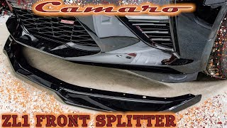 6th Gen Camaro Zl1 Front Splitter C7carbon Review And Install