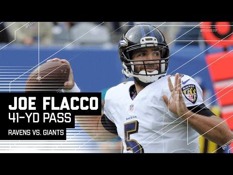 Joe Flacco Hits Breshad Perriman for a Huge 41-Yard Gain! | Ravens vs. Giants | NFL