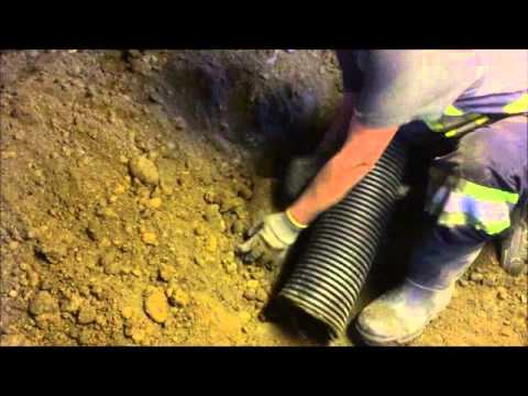 Digging Out A Crawl Space With A Vacuum Truck