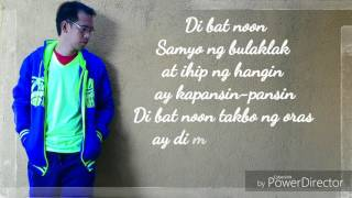 Gaya ng Dati - Gary V.  (Cover by Noven with lyrics)