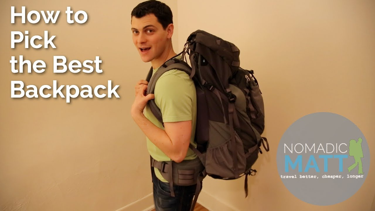 How to Pick the Best Backpack - YouTube
