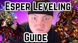Final Fantasy Brave Exvius - Esper Leveling Guide!
