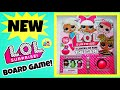 NEW LOL SURPRISE 7 LAYERS OF FUN BOARD GAME   HOW TO PLAY / UNBOXING   BIG L.O.L Series 1, 2, 3