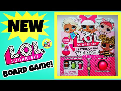 Lol Surprise Doll Board Game 7 Layers Of Fun Unbox Trade Collect Authentic New