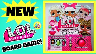 NEW LOL SURPRISE 7 LAYERS OF FUN BOARD GAME | HOW TO PLAY / UNBOXING | BIG L.O.L Series 1, 2, 3
