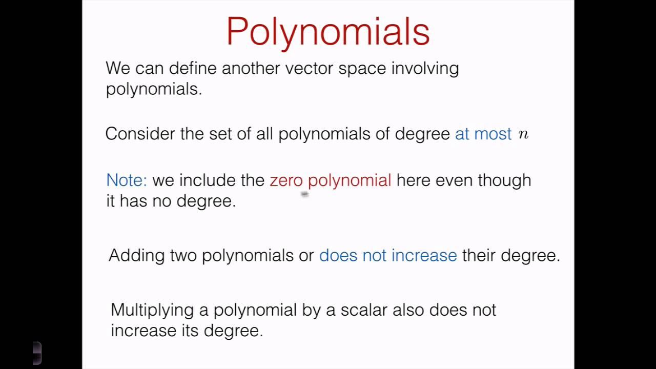 Vector Space of Polynomials  GeoGebra