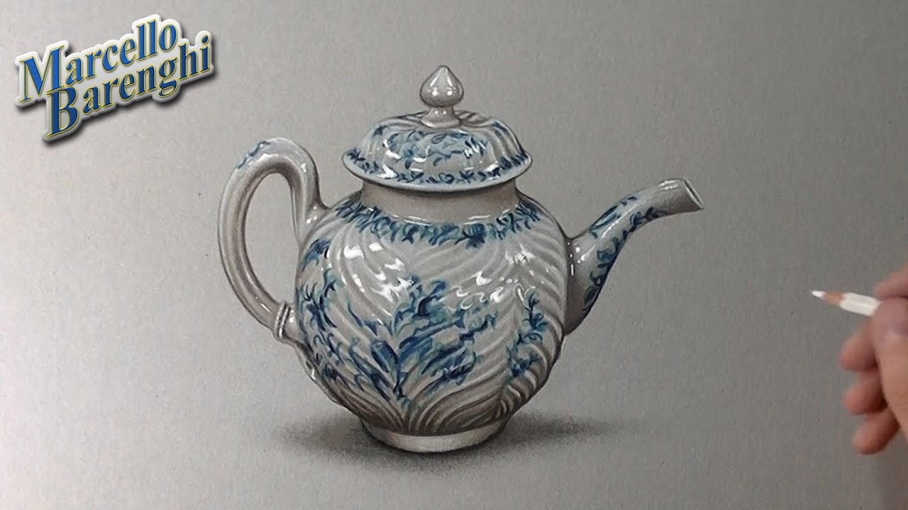 How To Draw A Porcelain Teapot