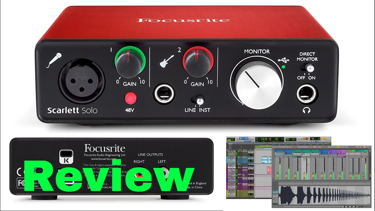 focusrite scarlett solo 2nd gen usb audio interface bundle review youtube. Black Bedroom Furniture Sets. Home Design Ideas