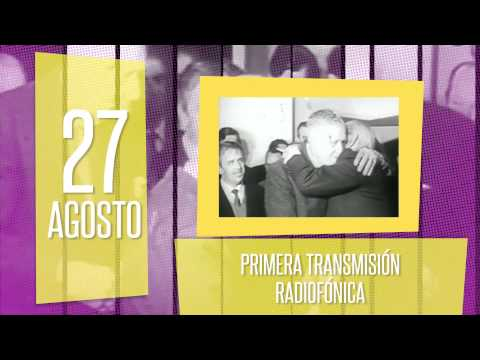 27 de agosto: Primera transmisión radiofónica