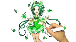 Vẽ tranh Cure Mint Trong Yes Precure 5 Go - How to draw Akimoto Komachi