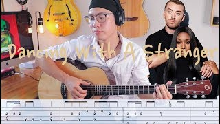 Baixar Dancing With A Stranger - Sam Smith feat. Normani (Fingerstyle guitar cover) + TAB