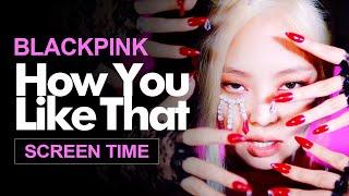 "Gambar cover BLACKPINK "" How You Like That "" Screen Time Distribution 各成員MV畫面時間統計 블랙핑크"