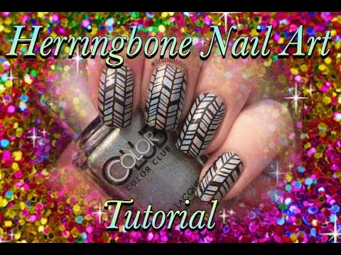 Holographic Herringbone Nail Art Tutorial Brendas Nails