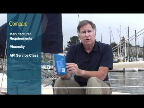 How to Select a Marine Engine Oil