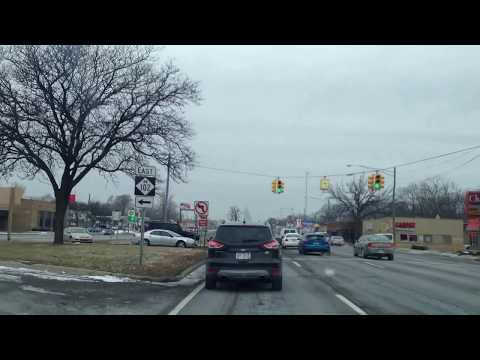 Snowy Drive From Shelby Township, Michigan to Detroit, Michigan