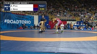 Olympic Wrestling Trials | Aaron Pico Against Jayson Ness | Highlight 2