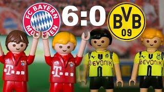 ⚽BAYERN MÜNCHEN - BORUSSIA DORTMUND 6:0 PLAYMOBIL Fussball Bundesliga Highlights Stop Motion deutsch