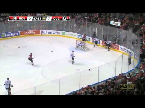 Jason Fuchs Freak Injury   Loses entire finger tip after shot block   March 22, 2014 QMJHL