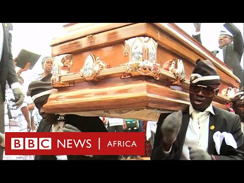 Ghana's dancing pallbearers - BBC Africa